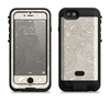 the tan white vintage floral pattern  iPhone 6/6s Plus LifeProof Fre POWER Case Skin Kit