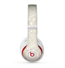 The Tan & White Vintage Floral Pattern Skin for the Beats by Dre Studio (2013+ Version) Headphones