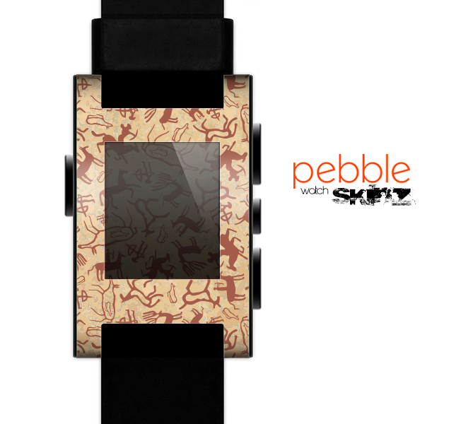 The Blue Abstract Crystal Pattern Skin for the Pebble SmartWatch
