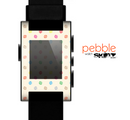 The Tan & Colored Laced Polka dots Skin for the Pebble SmartWatch