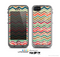 The Tan and Colored Chevron Pattern V55 Skin for the Apple iPhone 5c LifeProof Case