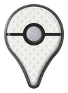 The Tan and White Overlapping Circle Pattern Pokémon GO Plus Vinyl Protective Decal Skin Kit