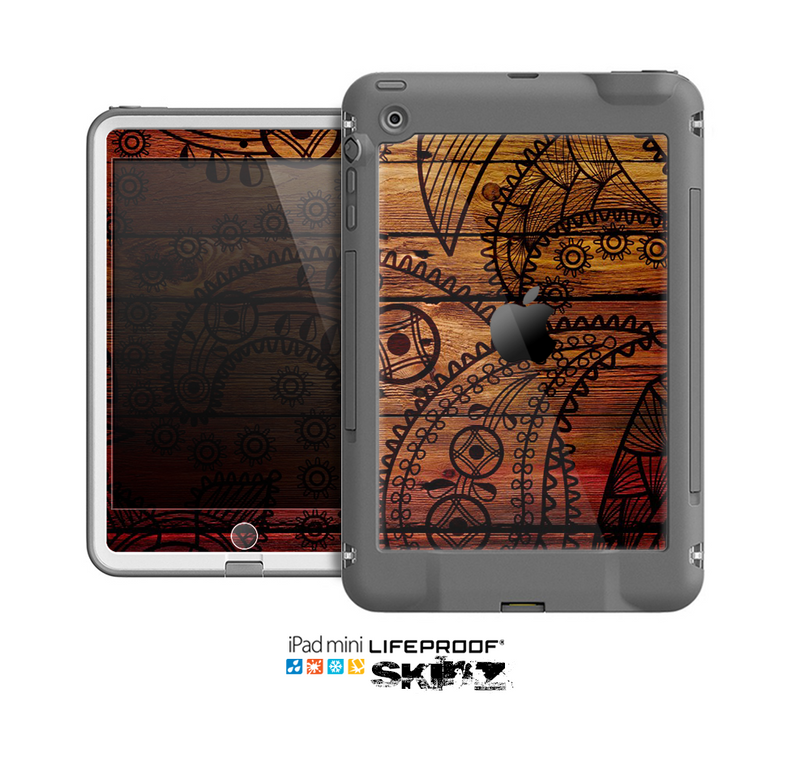 The Tattoed WoodGrain Skin for the Apple iPad Mini LifeProof Case