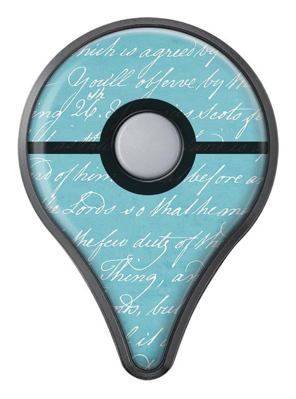 The Teal 18th Century Script Pokémon GO Plus Vinyl Protective Decal Skin Kit