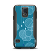 The Teal Abstract Raining Yarn Clouds Samsung Galaxy S5 Otterbox Commuter Case Skin Set