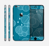 The Teal Abstract Raining Yarn Clouds Skin for the Apple iPhone 6