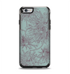 The Teal Aster Flower Lined Apple iPhone 6 Otterbox Symmetry Case Skin Set