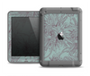 The Teal Aster Flower Lined Apple iPad Air LifeProof Fre Case Skin Set