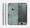 The Teal Aster Flower Lined Skin for the Apple iPhone 6