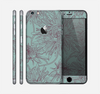 The Teal Aster Flower Lined Skin for the Apple iPhone 6 Plus