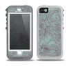 The Teal Aster Flower Lined Skin for the iPhone 5-5s OtterBox Preserver WaterProof Case