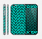 The Teal & Black Sketch Chevron Skin for the Apple iPhone 6
