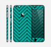 The Teal & Black Sketch Chevron Skin for the Apple iPhone 6 Plus