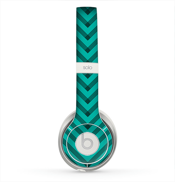 The Teal & Black Sketch Chevron Skin for the Beats by Dre ...