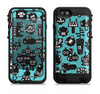 the teal black toon robots  iPhone 6/6s Plus LifeProof Fre POWER Case Skin Kit