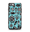 The Teal & Black Toon Robots Apple iPhone 6 Otterbox Symmetry Case Skin Set