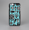 The Teal & Black Toon Robots Skin-Sert Case for the Apple iPhone 6 Plus