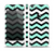 The Teal & Black Wide Chevron Pattern Skin Set for the Apple iPhone 5