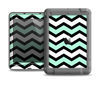 The Teal & Black Wide Chevron Pattern Apple iPad Air LifeProof Nuud Case Skin Set
