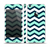 The Teal & Blue Wide Chevron Pattern Skin Set for the Apple iPhone 5