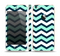 The Teal & Blue Wide Chevron Pattern Skin Set for the Apple iPhone 5s
