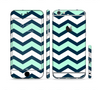 The Teal & Blue Wide Chevron Pattern Sectioned Skin Series for the Apple iPhone 6s Plus