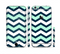 The Teal & Blue Wide Chevron Pattern Sectioned Skin Series for the Apple iPhone 6