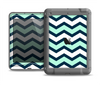 The Teal & Blue Wide Chevron Pattern Apple iPad Air LifeProof Nuud Case Skin Set