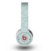 The Teal Circle Polka Pattern Skin for the Original Beats by Dre Wireless Headphones