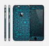 The Teal Floral Mirrored Pattern Skin for the Apple iPhone 6