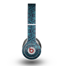 The Teal Floral Mirrored Pattern Skin for the Beats by Dre Original Solo-Solo HD Headphones