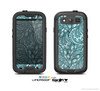 The Teal Floral Paisley Pattern Skin For The Samsung Galaxy S3 LifeProof Case