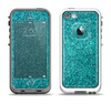The Teal Glitter Ultra Metallic Apple iPhone 5-5s LifeProof Fre Case Skin Set