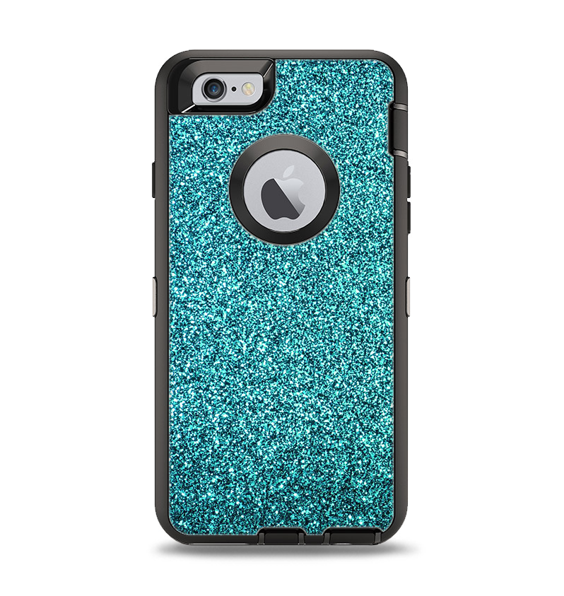 hot sale online d59f5 5d463 The Teal Glitter Ultra Metallic Apple iPhone 6 Otterbox Defender Case Skin  Set