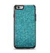 The Teal Glitter Ultra Metallic Apple iPhone 6 Otterbox Symmetry Case Skin Set