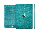 The Teal Glitter Ultra Metallic Full Body Skin Set for the Apple iPad Mini 3
