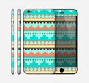 The Teal & Gold Tribal Ethic Geometric Pattern Skin for the Apple iPhone 6 Plus