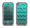 The Teal Gradient Layered Chevron Apple iPhone 5c LifeProof Nuud Case Skin Set