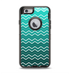 The Teal Gradient Layered Chevron Apple iPhone 6 Otterbox Defender Case Skin Set