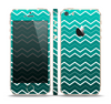 The Teal Gradient Layered Chevron Skin Set for the Apple iPhone 5s