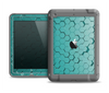 The Teal Hexagon Pattern Apple iPad Air LifeProof Fre Case Skin Set