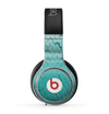 The Teal Hexagon Pattern Skin for the Beats by Dre Pro Headphones