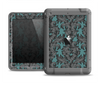 The Teal Leaf Foliage Pattern Apple iPad Air LifeProof Fre Case Skin Set