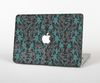 The Teal Leaf Foliage Pattern Skin Set for the Apple MacBook Air 13""