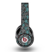The Teal Leaf Foliage Pattern Skin for the Original Beats by Dre Studio Headphones