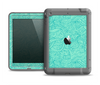 The Teal Leaf Laced Pattern Apple iPad Air LifeProof Fre Case Skin Set