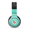The Teal Leaf Laced Pattern Skin for the Beats by Dre Pro Headphones