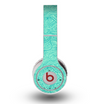 The Teal Leaf Laced Pattern Skin for the Original Beats by Dre Wireless Headphones