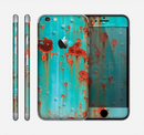 The Teal Metal with Rust Skin for the Apple iPhone 6 Plus