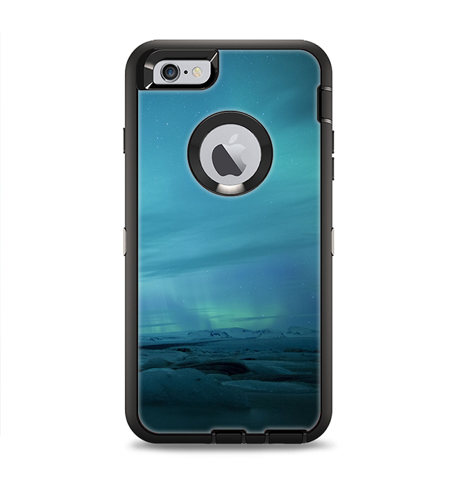online store 2471b 884a3 The Teal Northern Lights Apple iPhone 6 Plus Otterbox Defender Case Skin Set